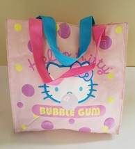 "1976, 2003 Sanrio Co   LTD Hello Kitty Pink Tote Bag ""Design Bubble Gum"" - $7.50"
