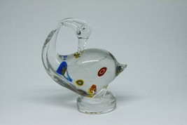 Vintage  Art Glass Swan  ~ 5 Inches tall ~  - $22.76