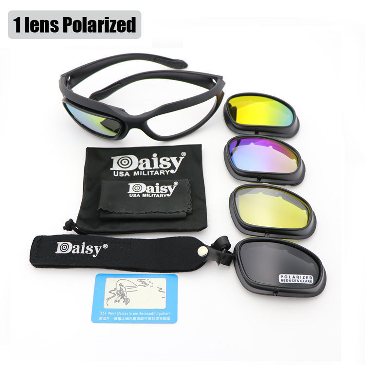 6a9dbb6bff Daisy C5 Sunglasses Polarized Army Goggles Military 4 Lens Kit Mens Desert  Sport