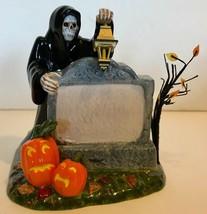 Department 56 Halloween Village Accessories Grim Reaper Halloween Village Sign - $12.94