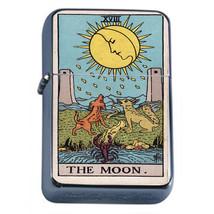 Tarot Card D20 Windproof Dual Flame Torch Lighter XVIII The Moon - $12.82