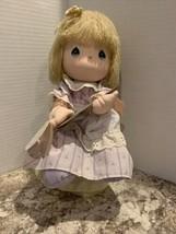 VTG 1989 Precious Moments Doll Music Box (I'd Like To Teach The World To... - $23.27