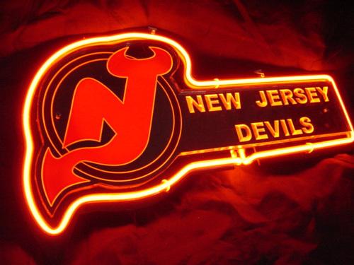 "Progress Lighting Lucky Collection 33 56 In 4 Light: New Jersey Devils Beer Bar 3D Neon Light Sign 12"" X 9"""