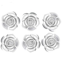 onlinepartycenter 6 Silver Rose Floating Candles Wedding Sweet 16 Party ... - $19.97