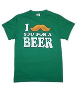 "DELTA PRO WEIGHT I ""MUST-ASK"" YOU FOR A BEER! MEN'S XL GREEN COTTON T-SH... - $7.97"