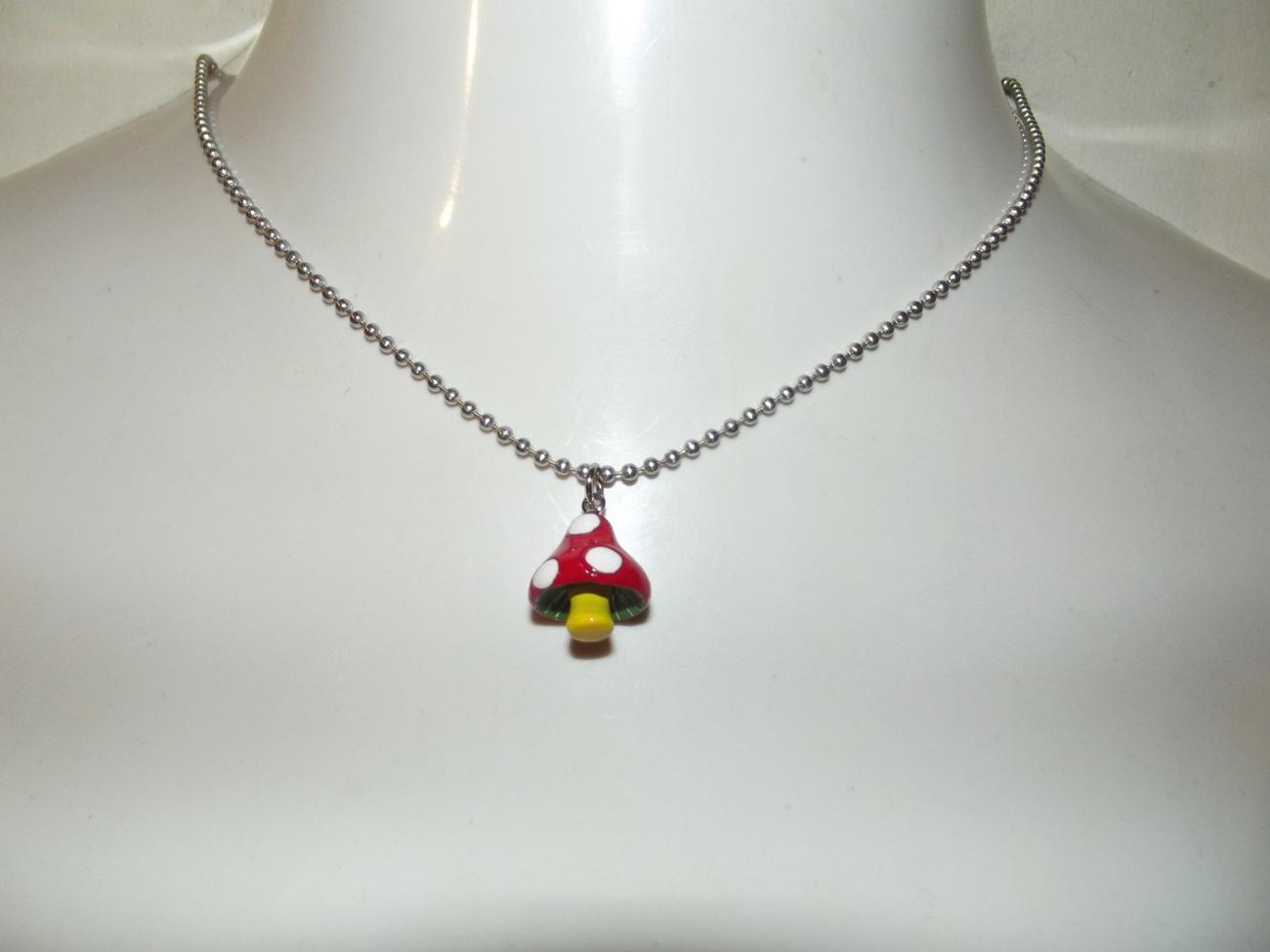 Mushroom Necklace or Earrings