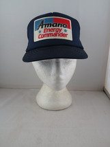 Vintage Patched Trucker Hat - Amana Enegry Commander - Adult Snapback - $49.00