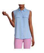 Worthington Sleeveless Regular Fit Button-Down Shirt Sizes PM, PL, PXL, ... - $12.99