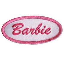 """Barbie Patch - Halloween Costume Badge, Pink & White 3"""" (Iron On) - $3.75"""