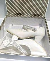 AISLE STYLE Girls Low Mid Heel Party Wedding Mary Jane Style Shoes Size 28 UK image 3