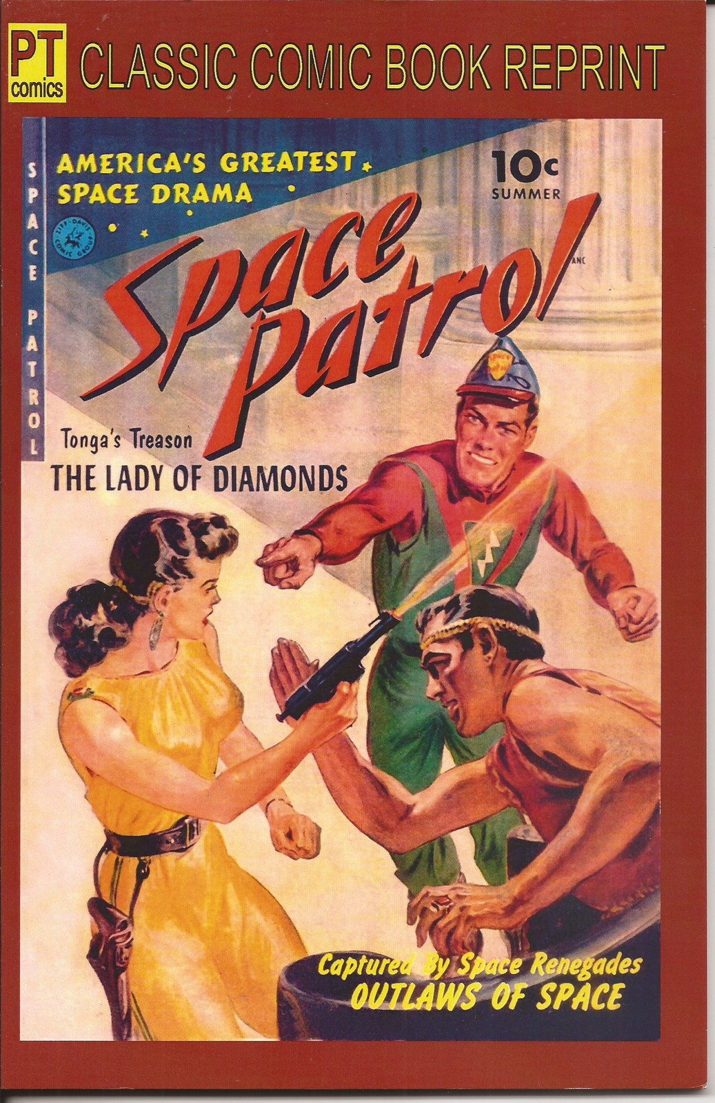 Primary image for PT Comics Classic Comic Book Reprint Space Patrol #1 & 2 Golden Age Sci-Fi
