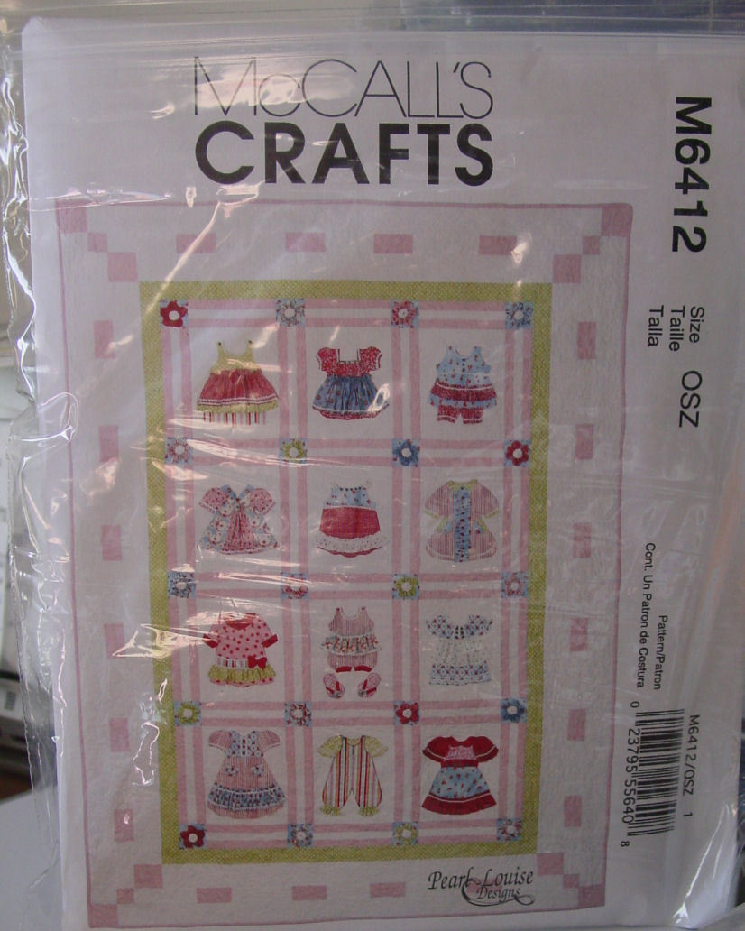 """Pattern Doll Clothes Look Quilt 59"""" x 83"""" finished size"""