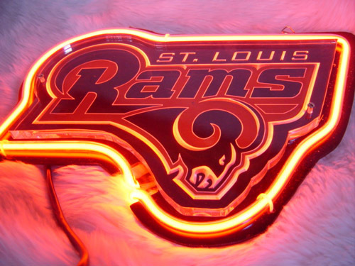 "NFL St Louis Rams Football Beer Bar 3D Neon Light Sign 12"" x 9"""