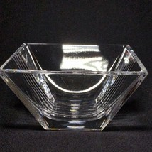 "1 (One) TIFFANY & CO METROPOLIS Crystal 4"" Bowl Square - Signed image 2"