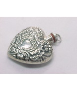Vintage STERLING HEART PERFUME HOLDER with Dipper for Chatelaine - 1 7/8... - $130.00