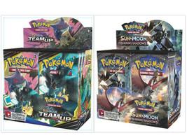 Pokemon TCG Sun & Moon Team Up + Burning Shadows Booster Box Bundle - $209.99