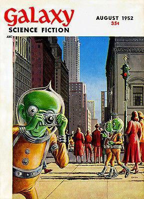 Primary image for Galaxy Science Fiction - August 1952 - Magazine Cover Poster