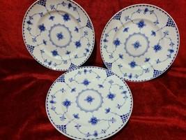 "Johnson Brothers Indies  Blue set of 3 salad plates 7 7/8"" - $25.69"