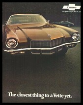 1971 Chevrolet Camaro Original Brochure- RS SS Z28 Xlnt 71 - $15.66