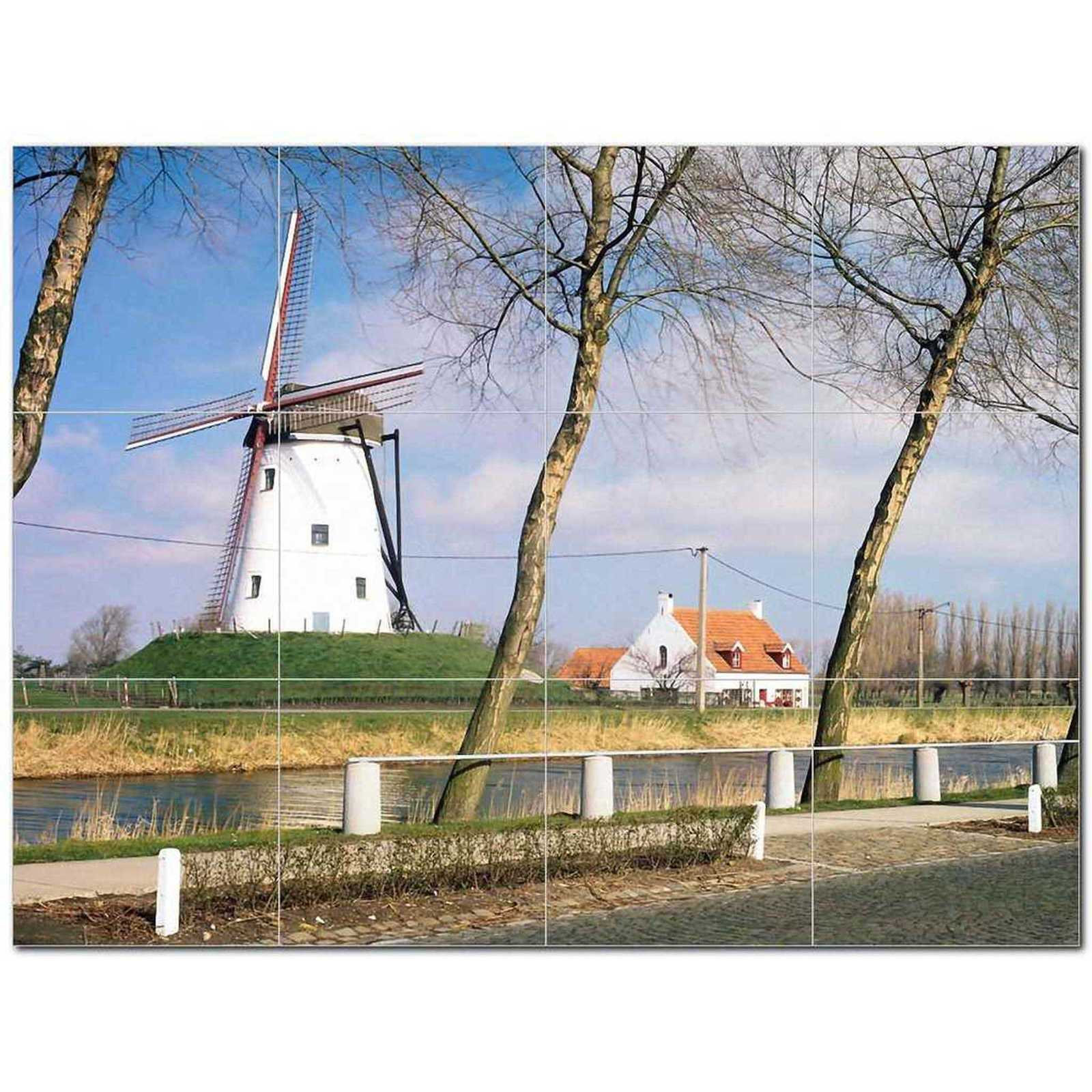 Primary image for Windmill Photo Ceramic Tile Mural Kitchen Backsplash Bathroom Shower BAZ406339