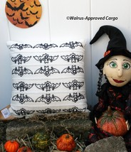 POTTERY BARN BEADED BAT PILLOW -NWT- NOTHING WELCOMES FALL LIKE FLYING M... - $59.95