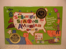 The SCRAMBLED STATES of AMERICA Game Gamewright whimsical geography made... - $19.69