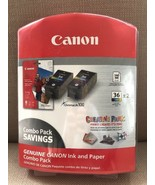 Canon  CLI-36 x 2 Color Ink Cartridges & 140 Sheet Photo Paper Value Pack - $14.95