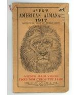 1917 Ayer's American Almanac Lowell MA patent medicine vintage ephemera - $9.00