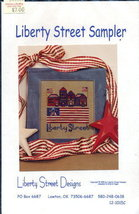 "Patriotic ""Liberty Street Sampler"" Cross Stitch Pattern - $3.95"