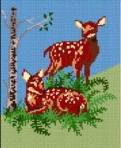 Latch Hook Rug Pattern Chart: Fawns - EMAIL2u - $5.75