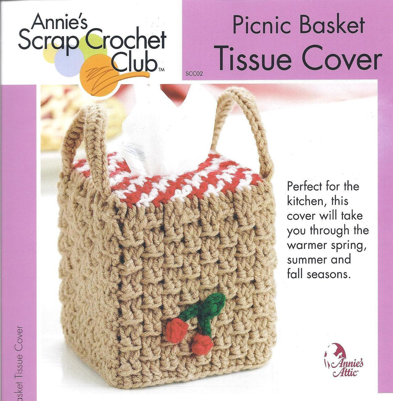 Tissue Basket Tissue Cover~Annie\'s Crochet and 17 similar items