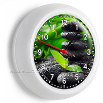 Feng Shui Stones Lucky Green Bamboo Wall Clock Bedroom Room Home Office Decor - $21.05