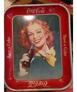 "VINTAGE COCA COLA SERVING TRAY ""RED HAIRED GIRL"" 1948 RARE SCARCE ORIGINAL - $148.50"