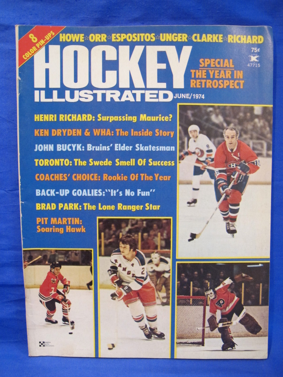 Hockey Illustrated Magazine Vintage Collector Howe Orr Espositos Unger Richard