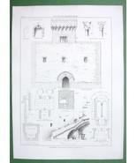 ARCHITECTURE PRINT: Italy Alcamo Ballis Tower Fortress - $16.20