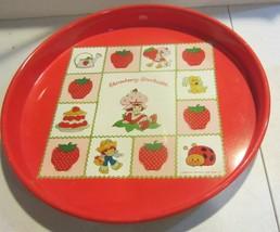 Vintage 1980's Strawberry Shortcake Metal Serving Tray - $18.95