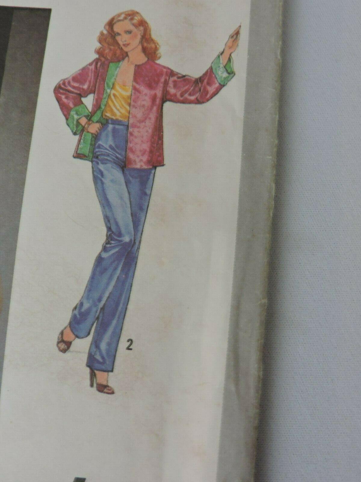 Simplicity Sewing Pattern 9112 Uncut Jiffy Reversible Jacket 1979 Vintage 18 20  image 3