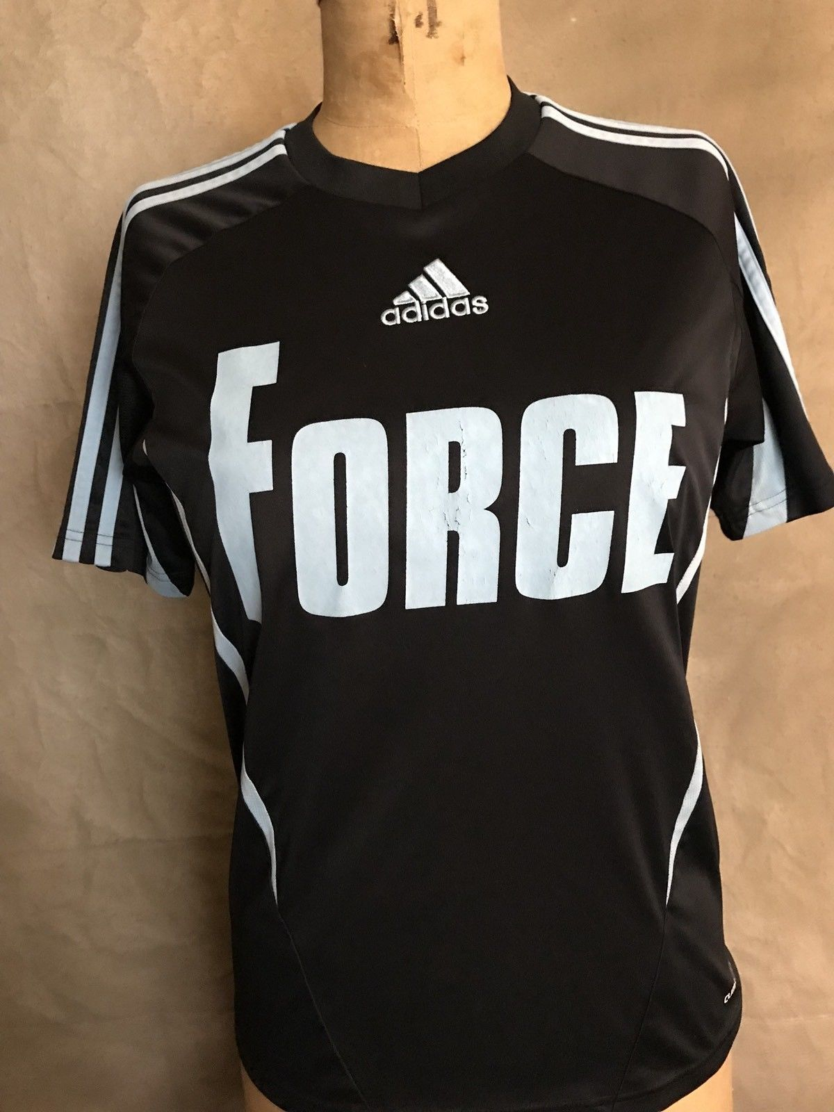 0d18a517217 Adidas Black FORCE Soccer Jersey Top  36 and 50 similar items