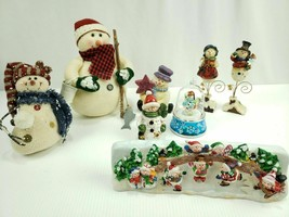 Snowman Christmas Decorations Lot of 8 See Pics - $26.84