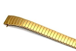 11mm Gold Extra Long Expansion Watch Band Strap Fits Easy Reader Curved Ends - $19.79