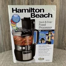 Hamilton Beach Stack & Snap Food Processor #70721~10 Cup Capacity~Black~450 Watt - $44.55