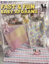 Fast & Fun Baby Afghans Annie's Attic Six Quick Colorful Afghans  - $9.00