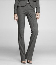 NEW Express Design 2 Small Editor Dress Pant Flannel Gray Stripe Wide Le... - $22.95