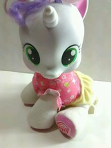 Hasbro My Little Pony Talking Sweetie Belle White Unicorn Pink Yellow Pl... - $12.99