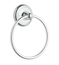 Moen Bathroom Towel Ring Chrome Holder Wall Mounted Accessories Hanger N... - $9.99