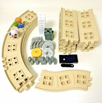 Little Tikes Waffle Blocks Steam Train Playset Lot Of 40 Pieces - $22.28
