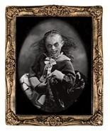 XLG Haunted Creepy MONSTER GIRL LENTICULAR PICTURE PORTRAIT Halloween De... - $37.02