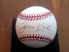 Jim Kaat Twins Yankees Cards Signed Auto Yankee 100TH Anniversary Baseball Jsa - $89.09