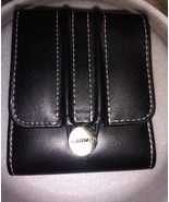 Garmin black GPS carry case 3.25 x 4 faux leather - $8.00