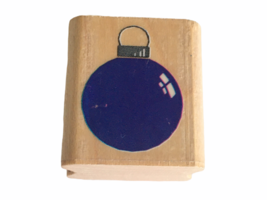 Posh Impressions Rubber Stampede Stamp Christmas Tree Bulb Ornament Card Making - $2.99